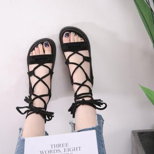 1327c604e209 Bandage fringed sandals – Sandals Manufacturers