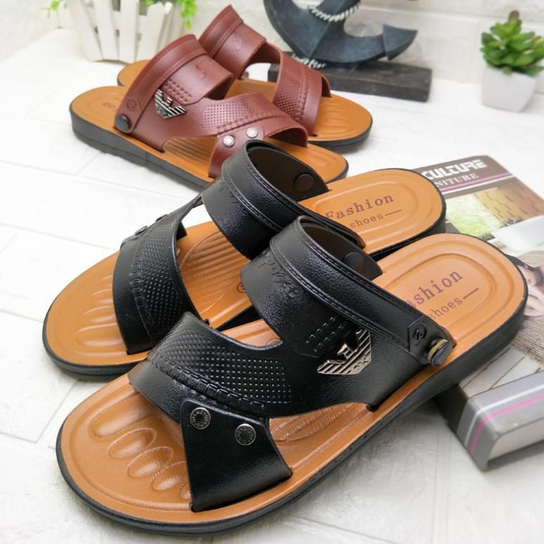21ffbb27d33f Men black and brown leather sandals